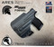 ARES WML holster for the Sig Sauer P365XL with a Red Dot Optic installed. Shown in Carbon Fiber Lonewolf Gray.  Right Hand, 1.5 Inch Belt Clip.