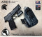"""ARES WML Holster shown for the Sig Sauer P365XL equipped with the Olight PL-Mini2, Right Hand Draw, in Kryptek Typhon, with Black Enhanced Triad Spartan 1.5"""" Clip, Zero Cant Angle."""