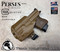 """Perses Rare Earth Magnet Retention Holster for the Glock 26/27/33 compatible with RMR, and the Olight PL-Mini 2.  Shown in Coyote Tan with 1.5"""" Black Belt Clip."""