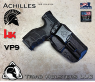 Achilles Holster for the HK VP9, Shown in Tactical Black.