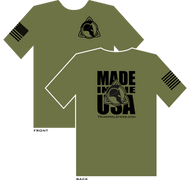 Triad Holsters Made in the USA, 100% Made in the USA, 100% Preshrunk Cotton.  Shown in OD Green.