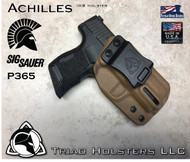 "Achilles Holster for the Sig Sauer P365 SAS in Coyote Tan, 1.5"" Triad Enhanced Belt Clip, Right Hand"