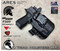 """ARES WML Holster shown for the Sig Sauer P320 X-Compact equipped with RDS (Red Dot Optic) and Streamlight TLR-7 and TLR-7A, Right Hand Draw, in Tactical Black, with Black Enhanced Triad Spartan 1.5"""" Clip, Zero Cant Angle."""