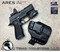 """ARES WML Holster shown for the Sig Sauer P320 X-Compact equipped with RDS (Red Dot Optic) and Streamlight TLR-7 and TLR-7A, Right Hand Draw, in Tactical Black, with Black Enhanced Triad Spartan 1.5"""" Clip, Zero Cant Angle"""