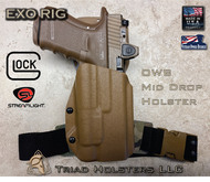 EXO Holster for the Glock 17/19/19X/22/23/34/35/45 with the Streamlight TLR-1/HL