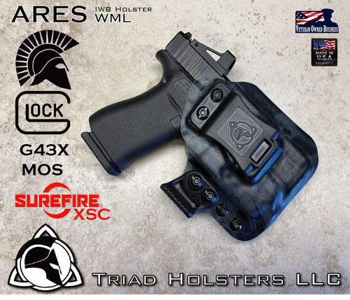 ARES WML Holster for the Glock 43x and the Surefire XSC in Kryptek Typhon.