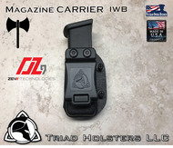Magazine Carrier for the ZEV OZ-9 Pistols,  Can be worn inside the waistband IWB or outside the waistband OWB between belt and pants.