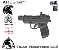 ARES WML Holster for the Springfield Armory Hellcat RDP the Surefire XSC.