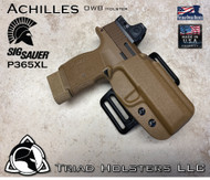 Achilles Outside the Waistband Holster for the Sig Sauer P365XL in Coyote Tan, Right Hand.