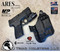 ARES WML holster for the Smith and Wesson Shield with the Streamlight TLR-7A  Weapon Mounted Light  installed. Shown in Tactical Black. Right Hand, 1.5 Inch Belt Clip.