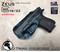 "ZEUS Holster shown for the Glock 19, Right Hand Draw, in Kryptek Neptune, with Black Enhanced Triad Spartan 1.5"" Clip, Zero Cant Angle."