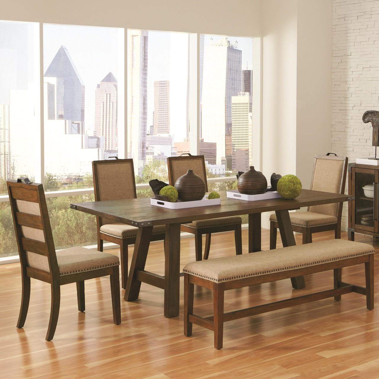 Weathered Acacia Dining Table Set