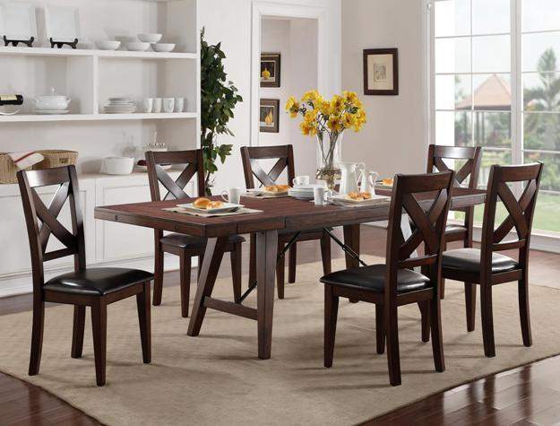 Sierra Brown Cherry Dining Table Set
