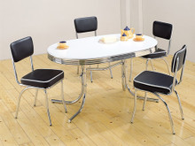 Black Oval Retro Table Set
