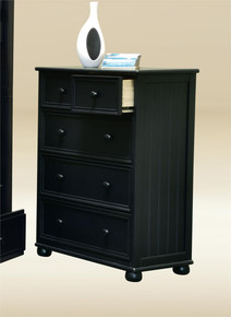 Black Drawer Chest With 3-Large Drawers