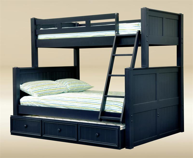 Dillon Navy Blue Twin Over Full Bunk Bed