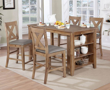 Lana 5 Piece Counter Height Dining Set   High Kitchen Table with 4 Chairs