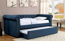 Furniture of America CM1027 Dark Teal Daybed