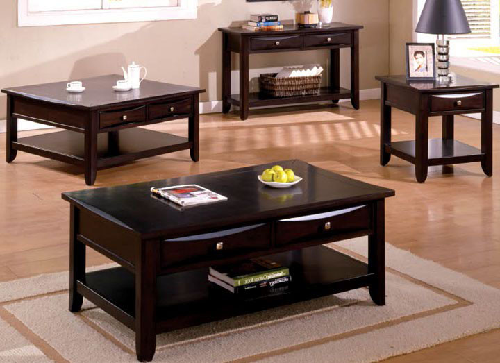 50 Baldwin Espresso Coffee Table W Storage Drawers