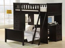 Wood Workstation Twin Loft w/ Desk