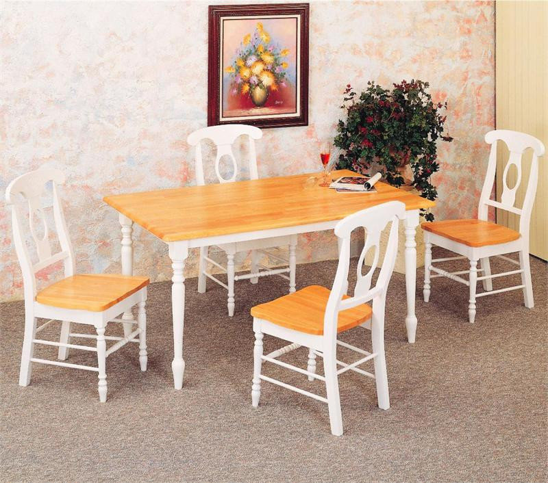 48 inch natural white kitchen table w4 napoleon chairs