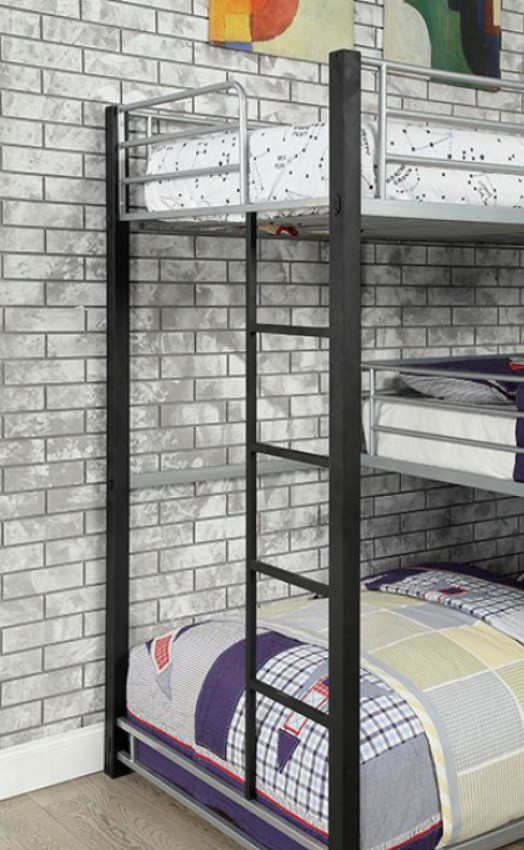 Madison Corner Triple Decker Twin Size Bed Bunk Bed For 3