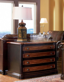 Brown Cherry Executive File Cabinet