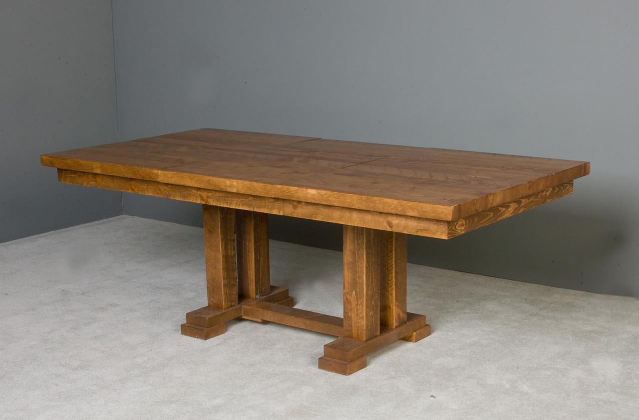 84 Quot Barnwood Rustic Honey Pine Trestle Dining Table