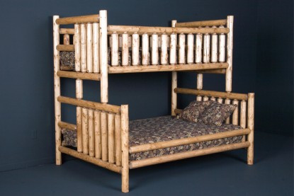 Northwood Twin Over Full Bunk Bed Log Bunk Beds For Sale