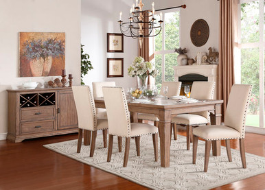 Rustic Valley Weathered Dining Table