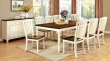 Vintage White Cherry Dining Table Set