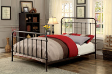Dark Bronze Sleigh Metal Bed