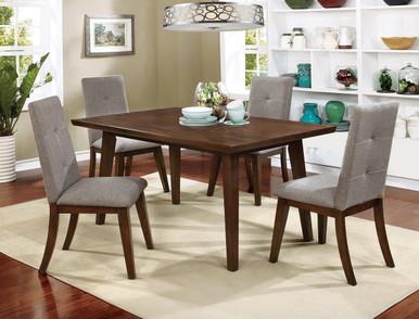 Furniture of America Walnut Dining Table Set   CM3354T