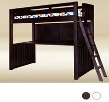 Newcastle Wood Bead board Full size Loft with Desk space underneath