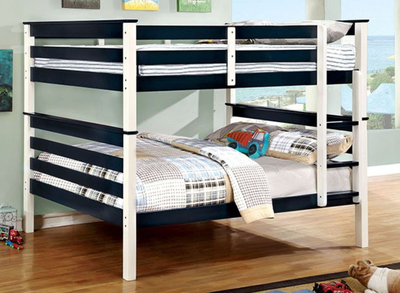 Lorren Wood Full Over Full Bunk Bed In Two Tone Finish For Kids