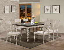 Coyana Antique White Gray 7Pcs Dining Set