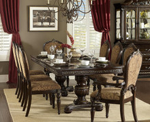 """Russian Hill 112"""" Cherry Extending 9 PC Dining Table Set"""