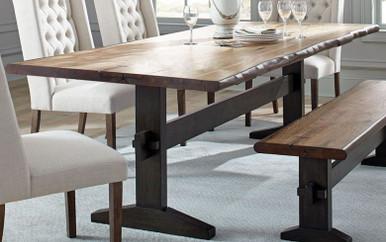 Burnham Natural Honey Fixed Trestle Table by Scott Living