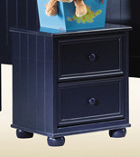 Blue Two Drawer Night Stand