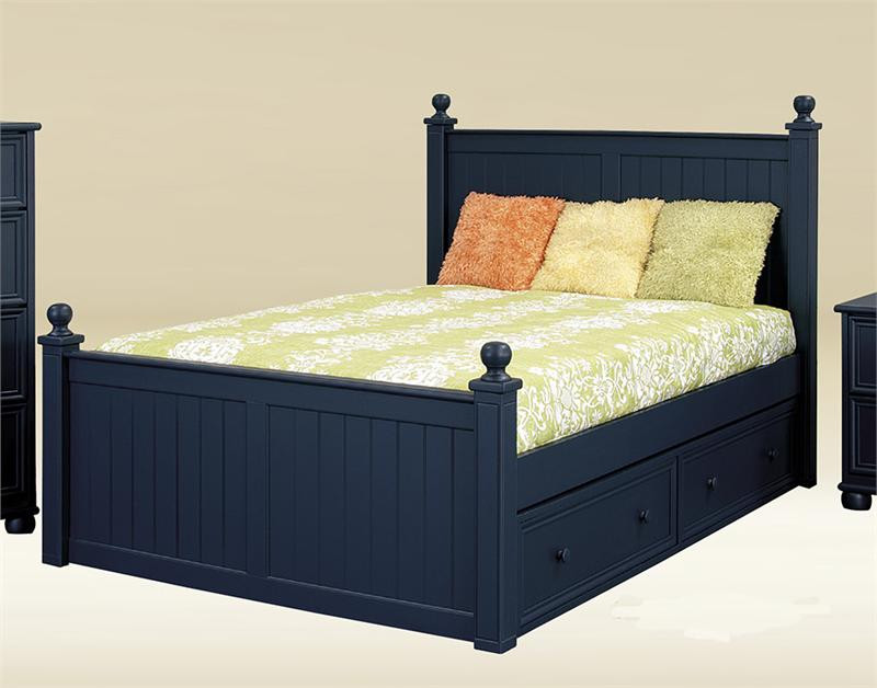 Navy Blue Bedside Table: Bentley Navy Blue Full Size Bed