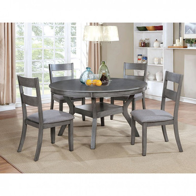 Juniper 5 Piece Gray Dining Set with Chairs
