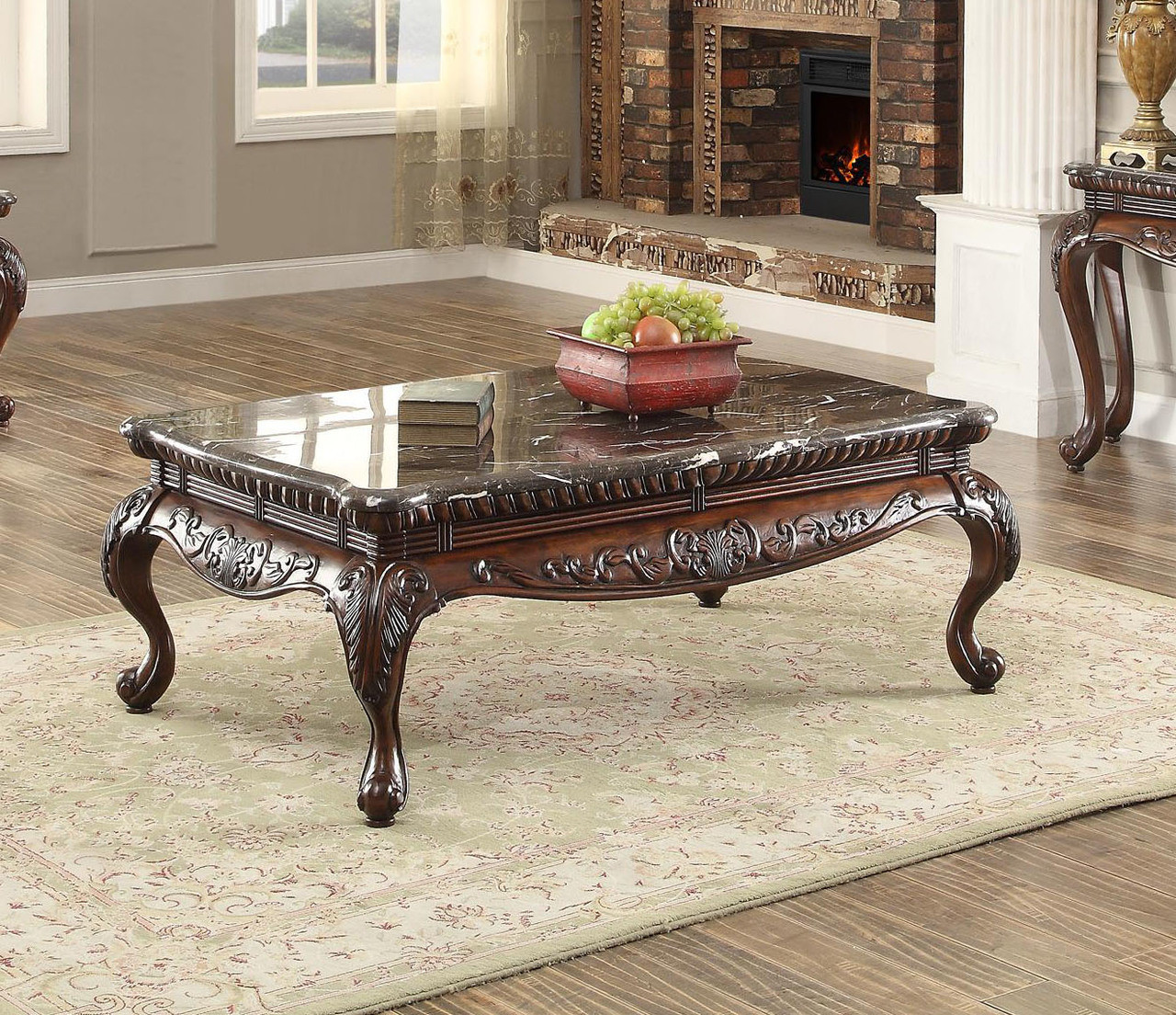Mariacarla Marble Top Cocktail End And Sofa Table Set