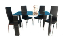 Gaby Glass Chrome Table w/ Chairs