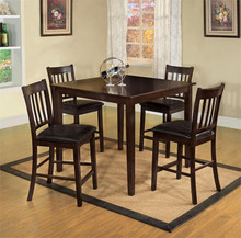West Creek II Square Espresso Counter Height Set