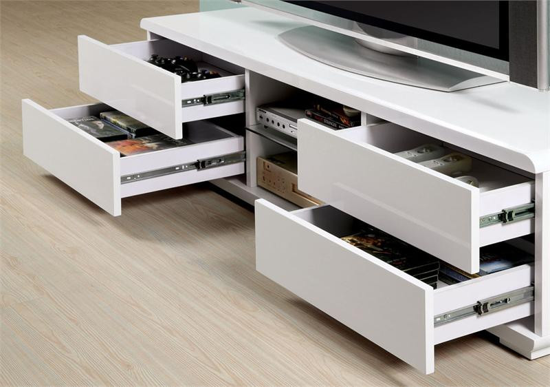 59 White Tv Stand Contemporary White Tv Console Stand With Drawers