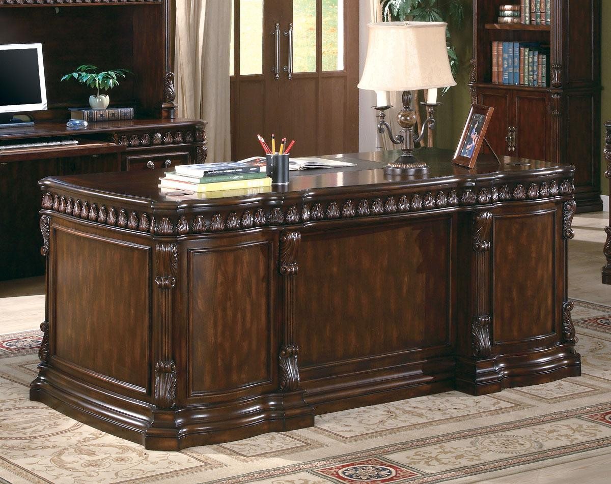 Rich brown deluxe office desk
