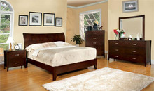 Midland I Brown Cherry Low-Profile Bed