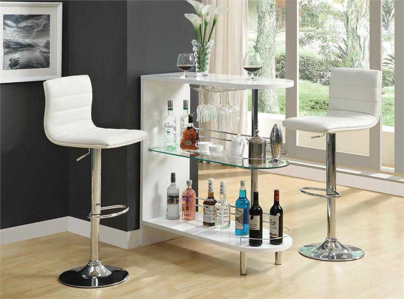 39 Contemporary White Glass Bar Counter Home Bar Counter