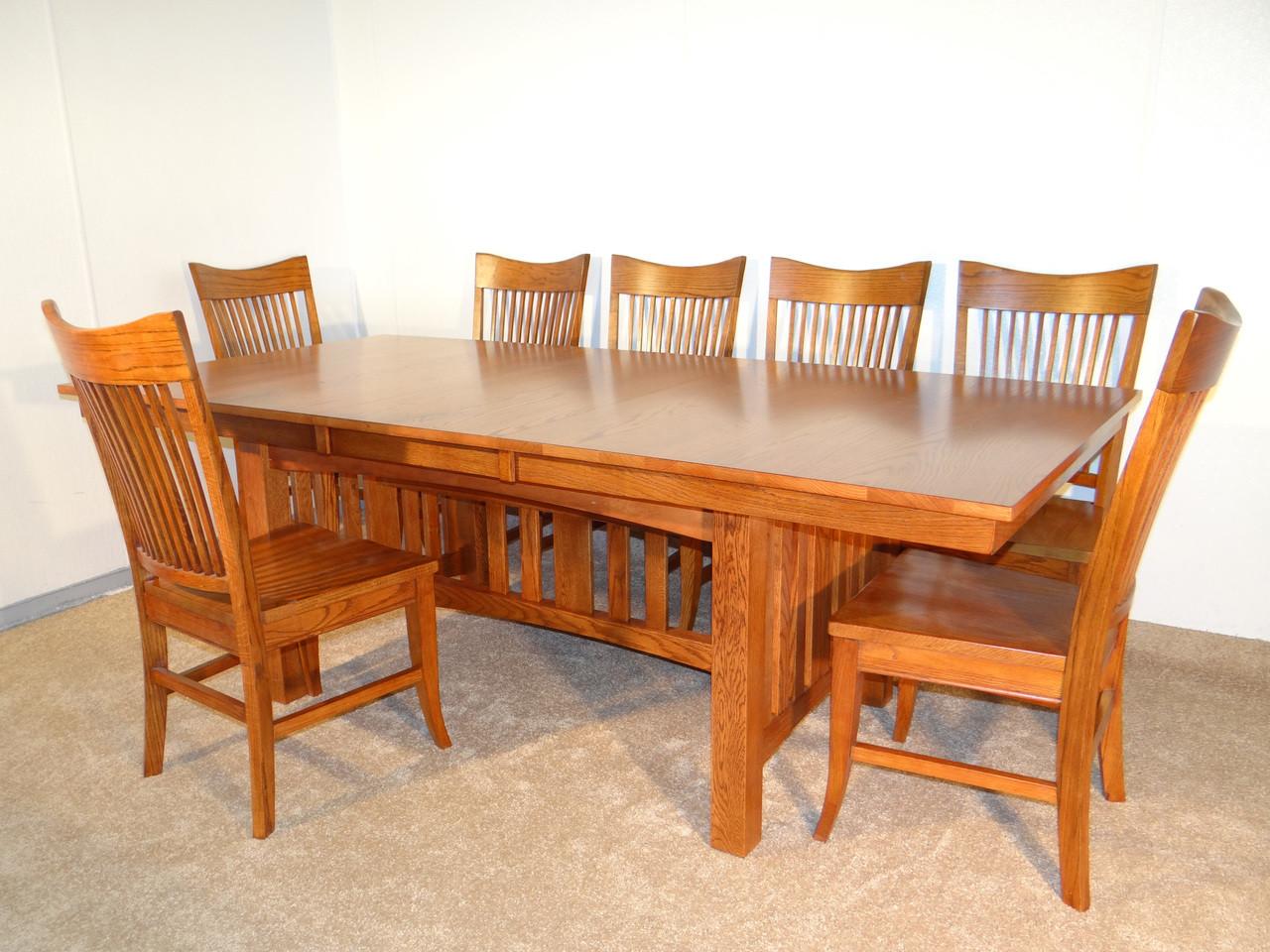 Mission Hills Solid Oak Dining Table Set