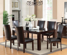 Astoria Dark Cherry Glass Dining Set